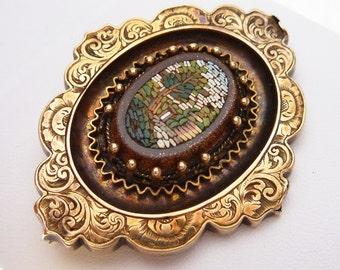 9kt Italian Micro Mosaic Pin