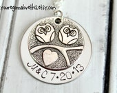 Personalized Owl Love Birds Necklace