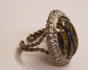 Vintage Tigers eye rope ring