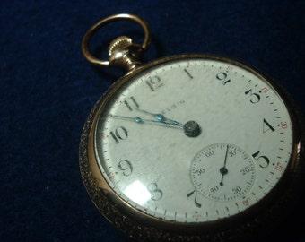 Good Looking Large 17 Jewels Elgin Pocket Watch