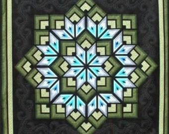 Starburst Star Strip Pieced Dereck Lockwood Quilt Pattern