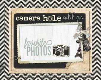 Camera Hole ADD-ON for your iPad, iPad Air, iPad Pro 9.7 and iPad Mini Book Style Case