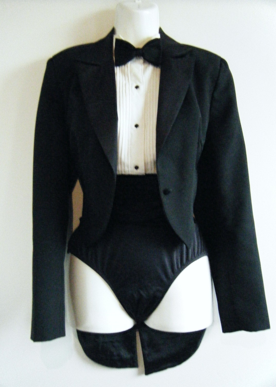 Reserved 80s Womens Tuxedo With Tails Jacket Tux Shirt