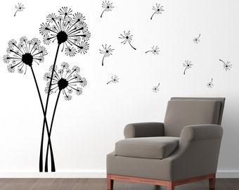 Dandelion Wall Decal - Flower Decor - Dandelion Wall Sticker - Extra Large