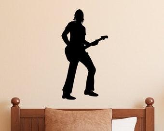 Rockstar Wall Decal - Guitar Player Wall Art - Rock n Roll Wall Decal - 3