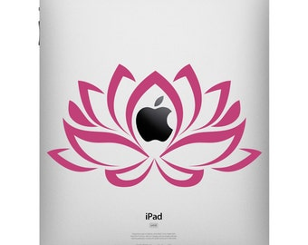 Lotus Flower iPad Decal - Flower Decal - Lotus Tablet Sticker