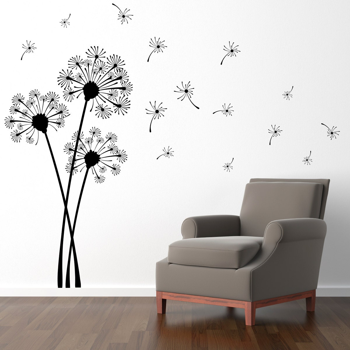 Dandelion Wall Decal Flower Decor Dandelion Wall Sticker