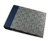 blue Photo Album - black or white pages in various sizes, baby album, wedding album