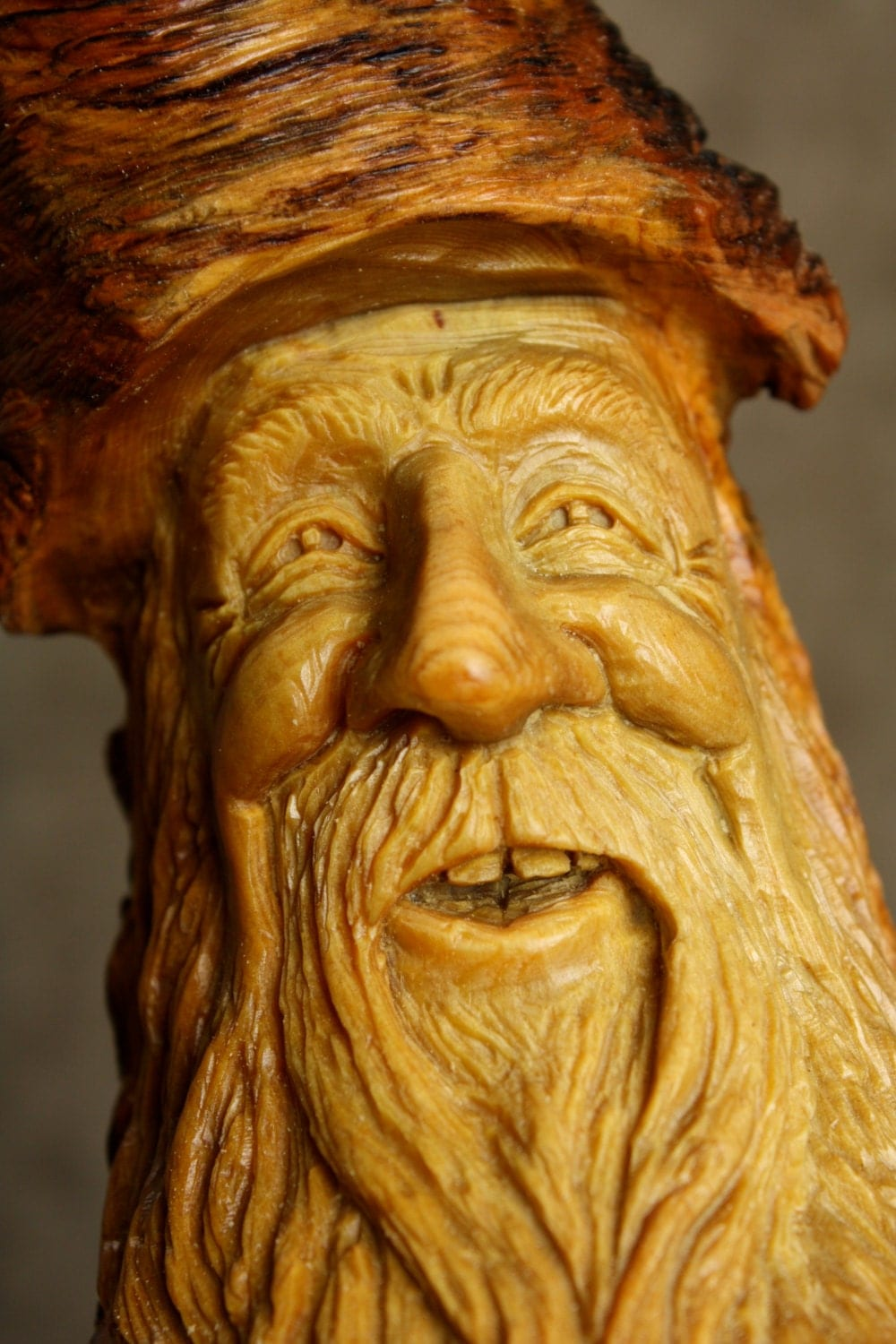 Wood Carving Wood Spirit Valentines Day Gift Rustic Log Cabin