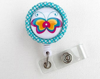 Butterfly - Name Badge Holder - Cute ID Badge Reels - ID Badge Holder - ID Badge Reel, handmade by JeJeweled