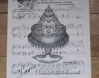 NEW french market paris pastissiers vintage sheet music