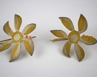 Married Metals Handcrafted Flower Pierced Earrings