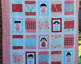 Koshi Dolls Single Bed Quilt Pattern
