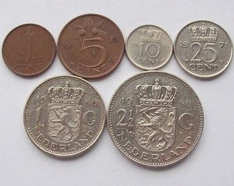 Queen Juliana Dutch Coin Set Netherlands
