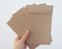 200 brown Kraft envelope size A6 or 4.5 inch X7 inch great for photo or postcard flat envelope