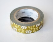 Limited Edition mt Japanese Washi Masking Tape - Gold Foil Stamped Lotus Flower