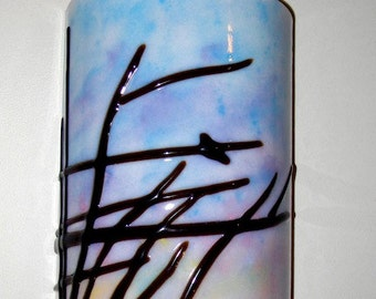 Bird at Dawn - Fused Glass Wall Sconce