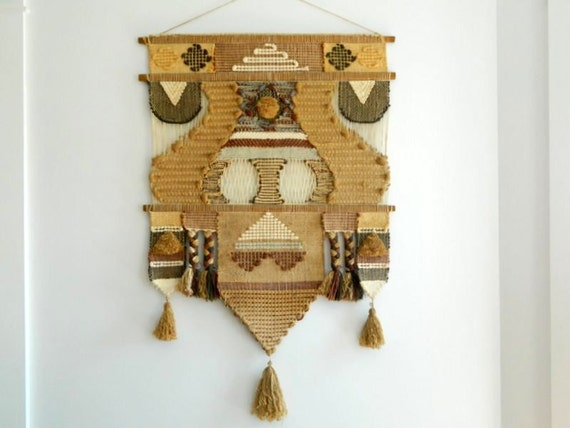 Large 70s Woven Wall Hanging Don Freedman