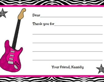 Personalized Rock Star Thank You Cards