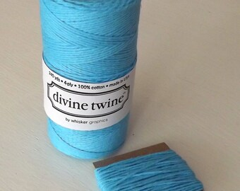 Cotton string Blue Solid Divine Twine 10 Yards