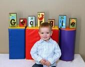 Personalized Wood Blocks - M2M Circo's Roar n' Stomp bedding - Baby Room Decor Custom Name Letters - Baby Letter Blocks