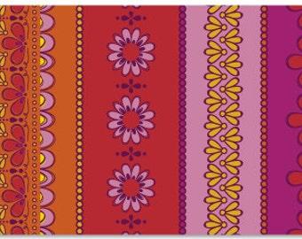 Daisy Janie NEW LEAF- Festoon - organic cotton fabric-low shipping