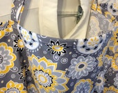 Nursing Cover Modern yellow flowers on Grey WITH POCKETS Other Styles AVAILABLE Check My Shop