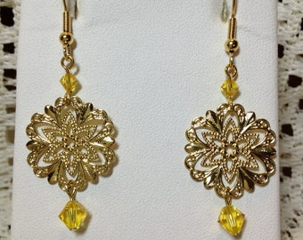 Sunshine and Gold Earrings