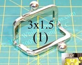 3x1.5 Nickel-free metal purse frame(TM)