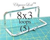 24% OFF 5 Nickel-free 8x3 purse frame with EleganceLock(TM) closure and loops