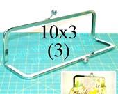 3 Nickel-free 10x3 metal purse frame(TM) kisslock