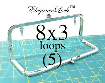 24% OFF 5 Nickel-free 8x3 purse frame with EleganceLock(TM) closure and loops