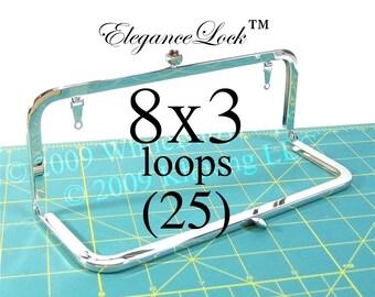 33% OFF 25 Nickel-free 8x3 purse frame EleganceLock(TM) closure and loops