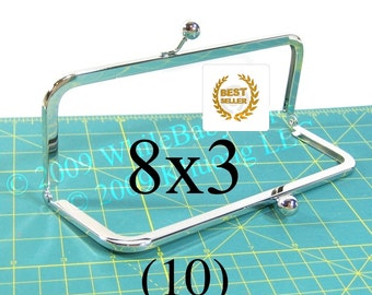 21% OFF 10 Nickel-free 8x3 purse frames with Kisslock