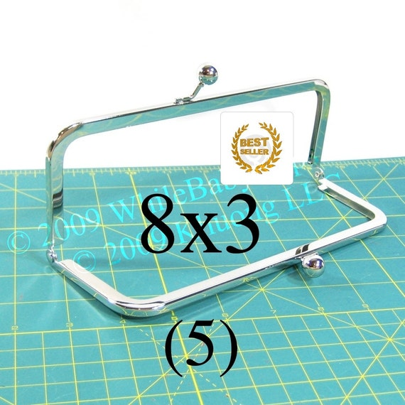 17% OFF 5 Nickel-free 8x3 purse frames with Kisslock