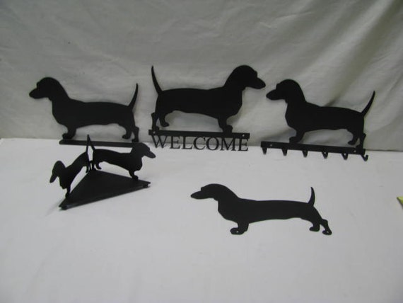 Dachshunds Collection Metal Wall Art Silhouette by cabinhollow Set of (5)