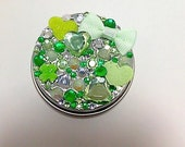 Sparkling Green Rhinestone Tin Decorative Tin St. Patrick's Day - NaughteeBits