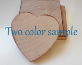 Sample- Wedding Favor Wood Magnets-  favors or save the date