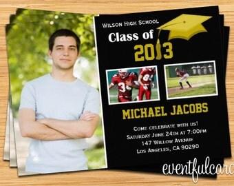 Class of 2017 High School/College Graduation Invitation Photo Card - Print at Home or E-card