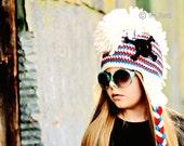 PATTERN Skull and Crossbones Punk Hat with Mohawk Crochet PDF Pattern