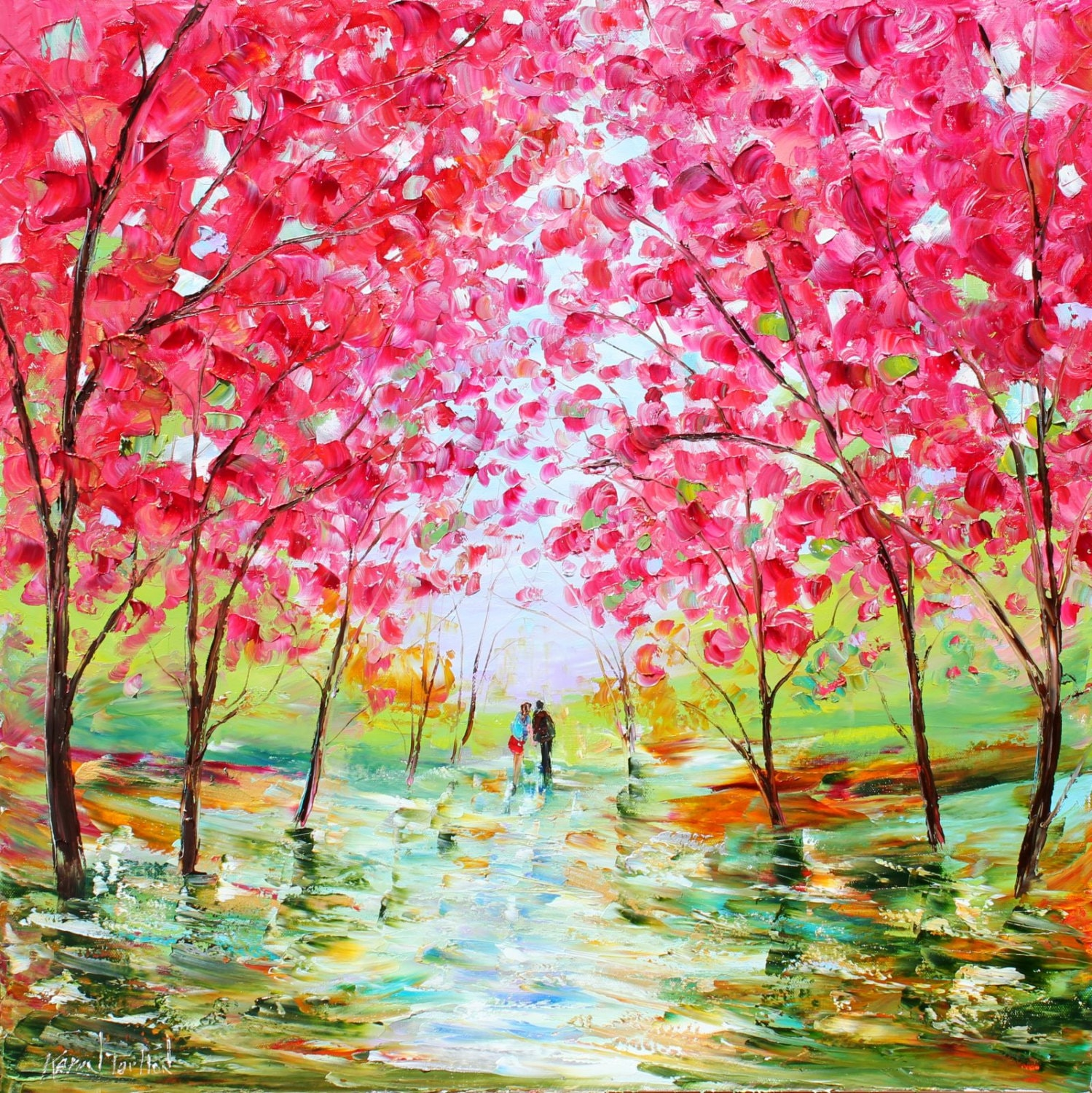 spring motif painting landscape - photo #22