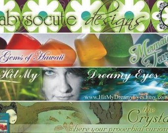 Custom Etsy Shop Banner / Website Header  - using my (ie. your) images photographs