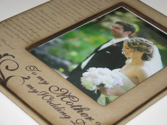 Mother of the Bride Keepsake- Custom Gift for Mom on Wedding Day with Sentimental Poem - Personalized