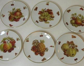 Set of 6  Gorgeous Lunch / Dessert Plates - Bavaria Germany - Mitterteich Debra Pattern # 6496