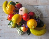 Tropical Small fruits hair Cluster Comb - Carmen Miranda Style - Retro -
