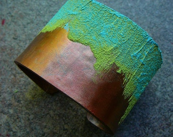 Polymer clay cuff and mixed media bracelet