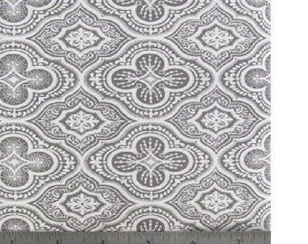 Morracan Tonal Fabric in Gray - 1 yard