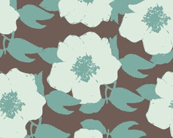 Just Reduced - Riley Blake Paris and Company Floral in Brown - by the yard