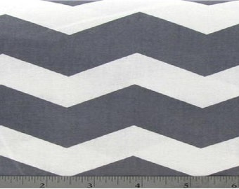 Large Chevron print in  Gray -  1 yard