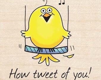 How Tweet of You, Bird, How Sweet - Inkadinkado Rubber Stamp